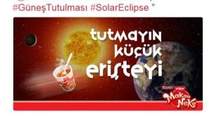 Markalar, güneş tutulmasını fırsata çevirdi!