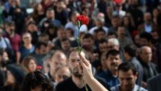 Ankara'da gar saldırısı kurbanları anıldı