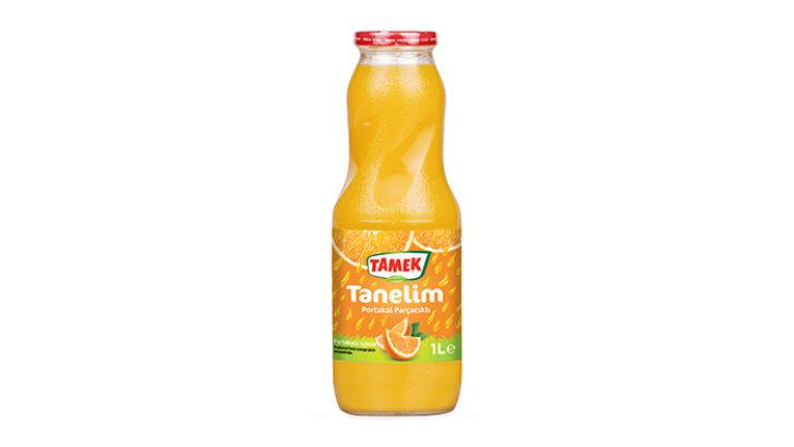 Tamek'ten Portakal Parçacıklı Meyve Suyu:  Tamek Tanelim