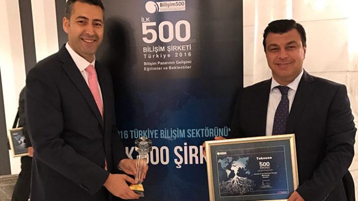 TeknoSA'ya Bilişim 500'de 2 ödül birden