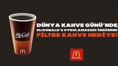 McDonald's'tan Kahve Günü'nde bedava kahve
