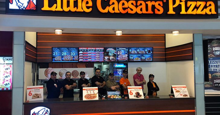 Little Caesars'ın Türkiye'deki ilk avm içi şubesi açıldı