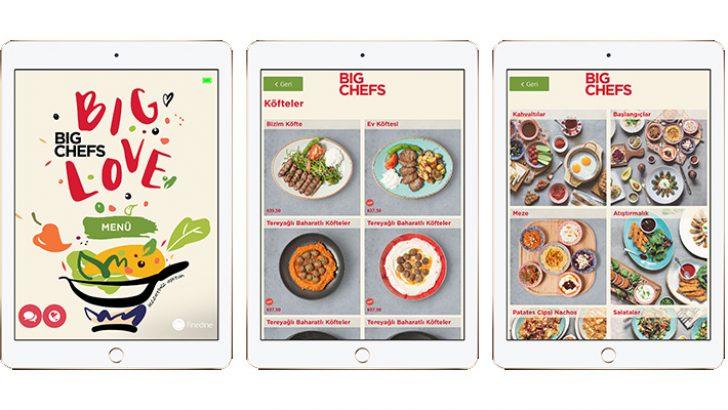 BigChefs menüleri dijitalleşiyor