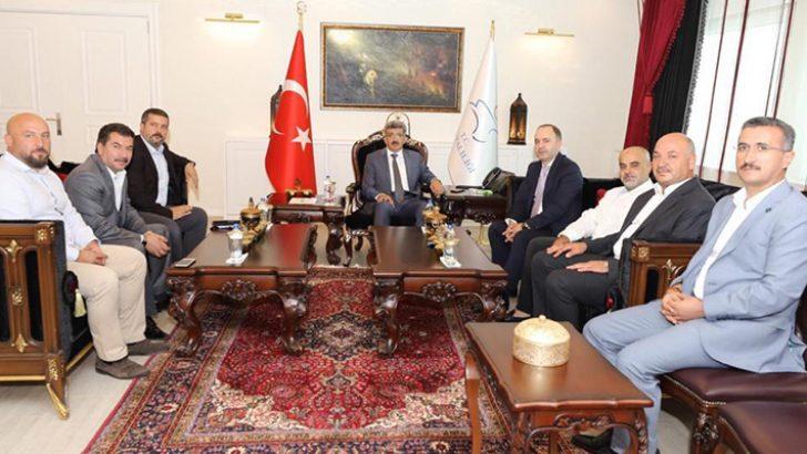 TPF heyeti Van Valisi Mehmet Emin Bilmez'i ziyaret etti